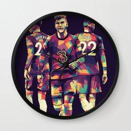 Chelsea Player on WPAP Pop Art Wall Clock
