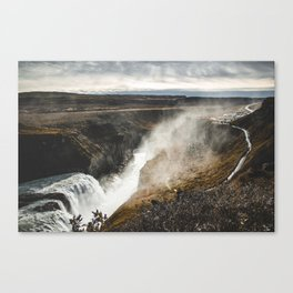 Incredible Waterfalls of the World. || Iceland. || Icelandic Nature. || MadaraTravels Canvas Print