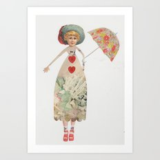 The Princess that wore heels Art Print