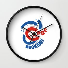 Curse Broken Wall Clock