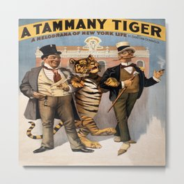 Vintage Poster - A Tammany Tiger Metal Print