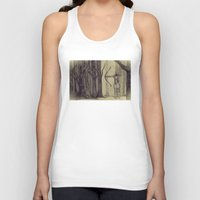 legolas Tank Tops featuring Legolas LOTR - the noisy silence of woods by Blanca MonQnill Sole