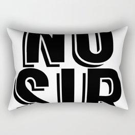 No sir BLK Rectangular Pillow