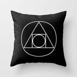 Squared Circle Throw Pillow