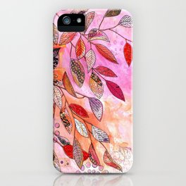 pink branch iPhone Case