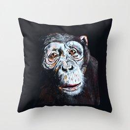 Chimpanzee: One Survivor Throw Pillow
