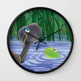 Dragonfly, Turtle And Frog Wall Clock