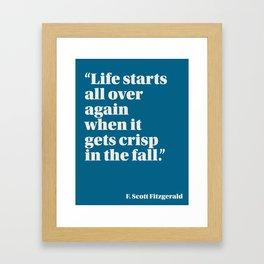 Fitzgerald on Seasons Framed Art Print