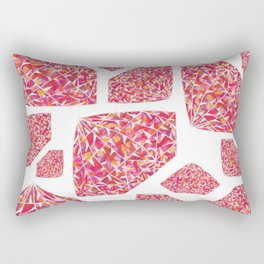 Pink Diamond Pattern 2 Rectangular Pillow
