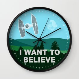 I WANT TO BELIEVE - Star Wars Wall Clock