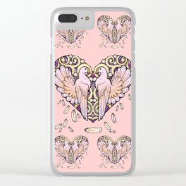Lover Pigeons Clear iPhone Case