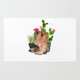 Boots and Cactus Rug
