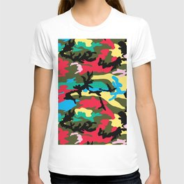 Multicolors Camouflage T-shirt