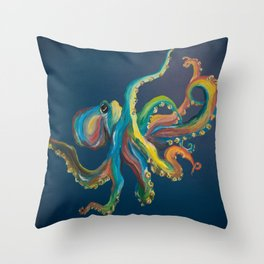 Colorful Octopus Throw Pillow