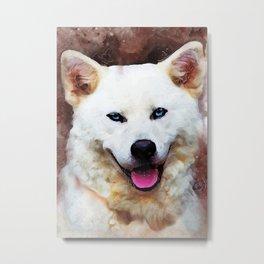 Akita Inu dog #dog #animals Metal Print