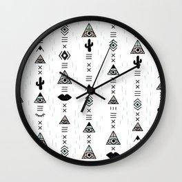 Native desert life print Wall Clock