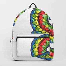 Triple Primary Color Design Backpack