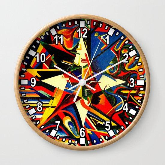 intermixing Color Star  Wall Clock