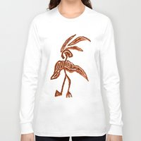 greg guillemin Long Sleeve T-shirts featuring Rain Dancer by Greg Phillips by SquirrelSix