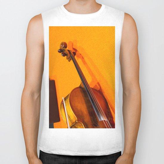 Violin on the Floor Biker Tank