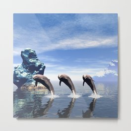Synchronized swimming Metal Print