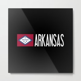 Arkansas: Arkansan Flag & Arkansas Metal Print