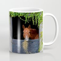 jewish Mugs featuring Home is where the Horse is by Brown Eyed Lady