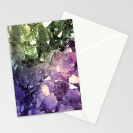 Two Tone Crystal Geode Stationery Cards