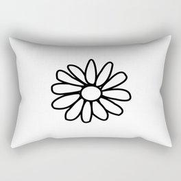 Imperfect Daisy Outline Rectangular Pillow