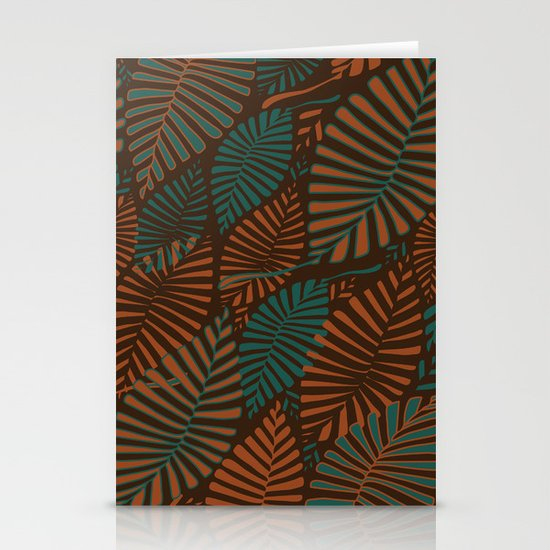 ORGANIC LEAVES Stationery Cards