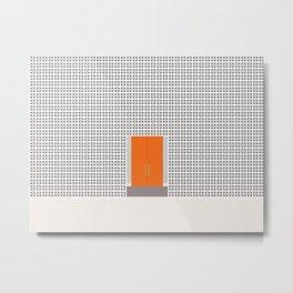Palm Springs, California Geometric Wall Orange Door Metal Print