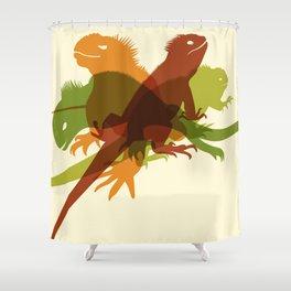 Iguanas Shower Curtain