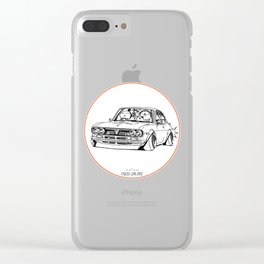 Crazy Car Art 0187 Clear iPhone Case