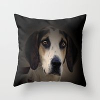 the hound Throw Pillows featuring Hound by Doug McRae