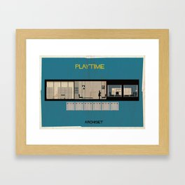 Play time_ Directed by Jacques Tati Framed Art Print