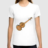 violin T-shirts featuring Violin by shopaholic chick