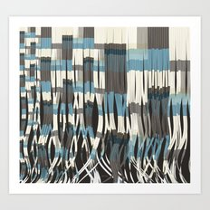 Abstract Graphic Ribbons Art Print