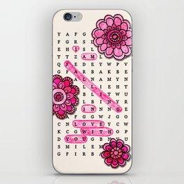 Wordsearch LOVE: Falling iPhone Skin
