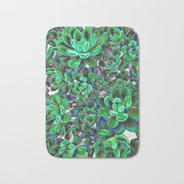 Floral tribute [green] Bath Mat