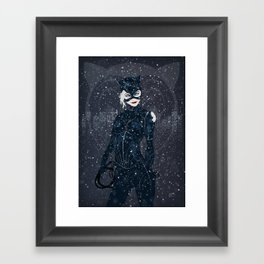 ME-OW. Catwoman Returns Framed Art Print
