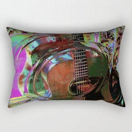 The Magic of Guitar Waves Rectangular Pillow