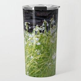 White Bells in Bloom Travel Mug