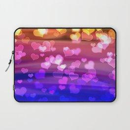 Lovely Hearts, Bokeh Laptop Sleeve