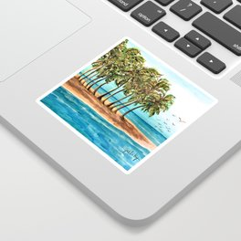 Private Island Painting Sticker