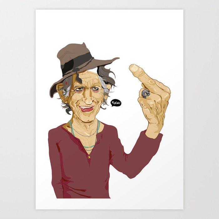 FUCK! Art Print