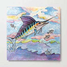M is for Marlin Metal Print