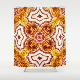 India Print Three Shower Curtain