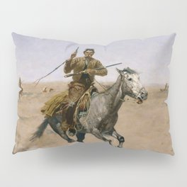 "Frederic Remington Western Art ""The Flight"" Pillow Sham"