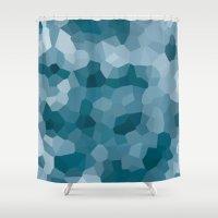 gem Shower Curtains featuring gem by annmariep