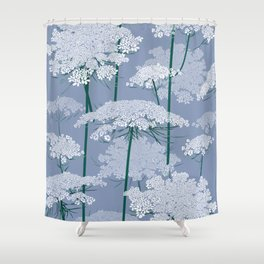 Queen Anne's Lace   Country Blue Shower Curtain
